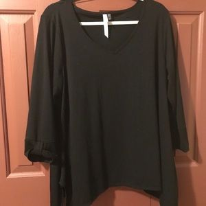 NY Collection Woman's Black Shirt.